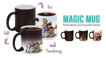 Sublimation color changing mug, Sublimation magic mugs