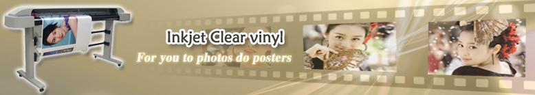 Inkjet Clear vinyl