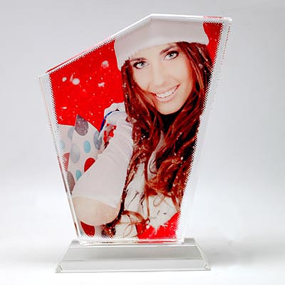Sublimation Triangle Crystal Photo Frames