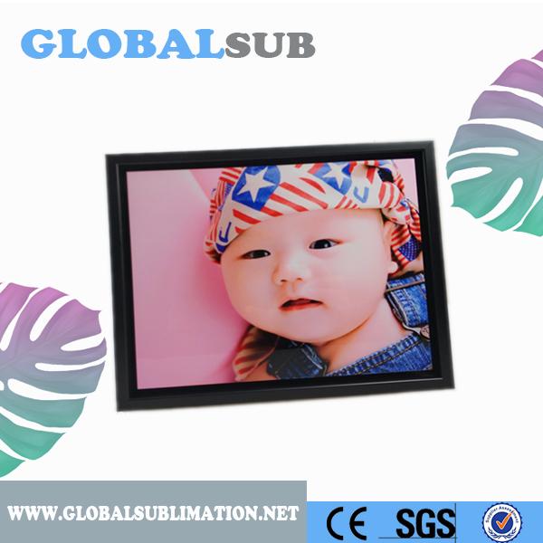 Black color rectangle blank plastic photo frame