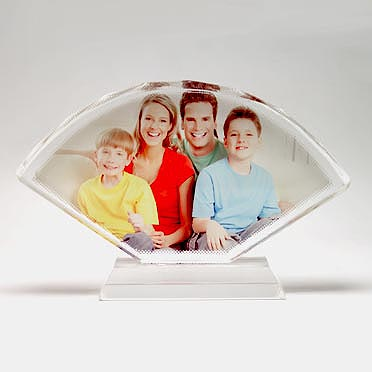sublimation Fan-shaped Screen Crystal Photo Frames
