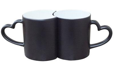 11oz sublimation love couple color change mug