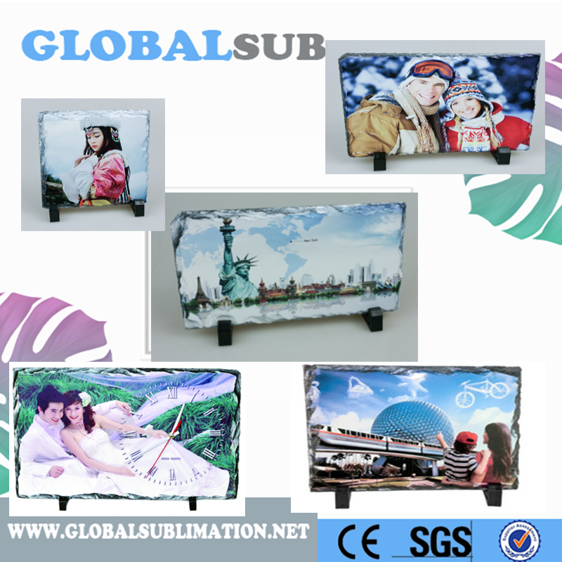 Natural Design Square Sublimation Stone Photo Frame