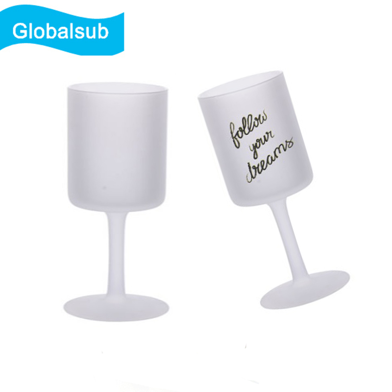 Personalized Wine Glasses Sublimation Frosted Red Wine Glass Cup