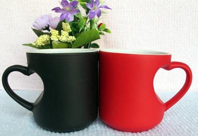 Subliumation Heart Handle Color Changing Mug