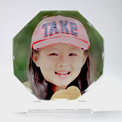 Sublimation Octagonal Crystal Photo Frames