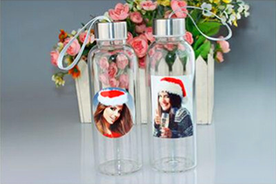 Sublimation printed Glass Water drinking Bottle