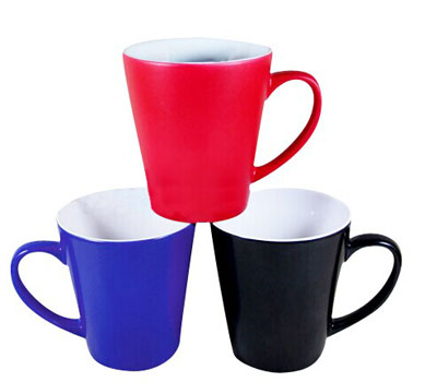 12oz sublimation cone shape color changing mug