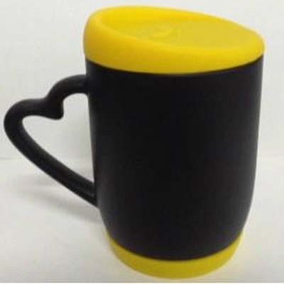 11oz sublimation Magic mug with silicon lip&bottom