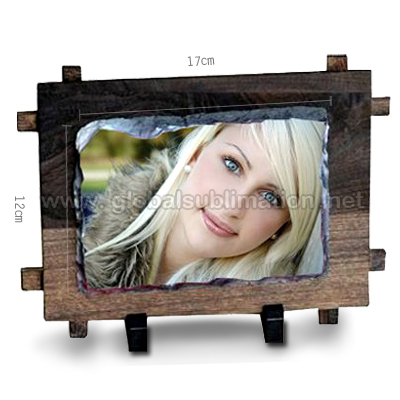 Sublimation Photo slate- Small Rectangle with Fram