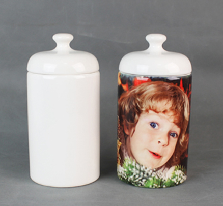 sublimation ceramic storage Jar innovative product