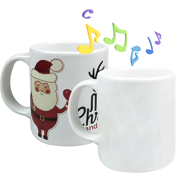 11oz sublimation white coated music mug