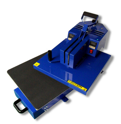 Slide-out manual swing away heat press machine