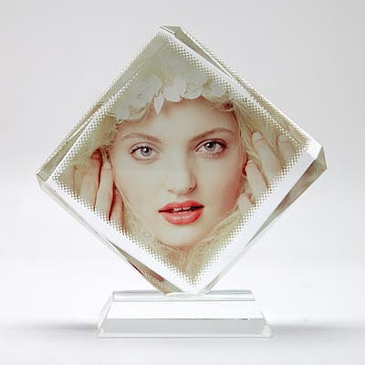 Sublimation Octahedron Crystal Photo Frames