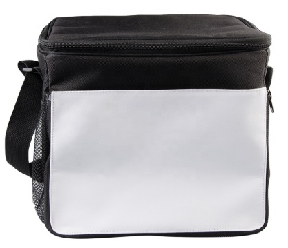 Custom Personalized Black Polyester Lunch Bag