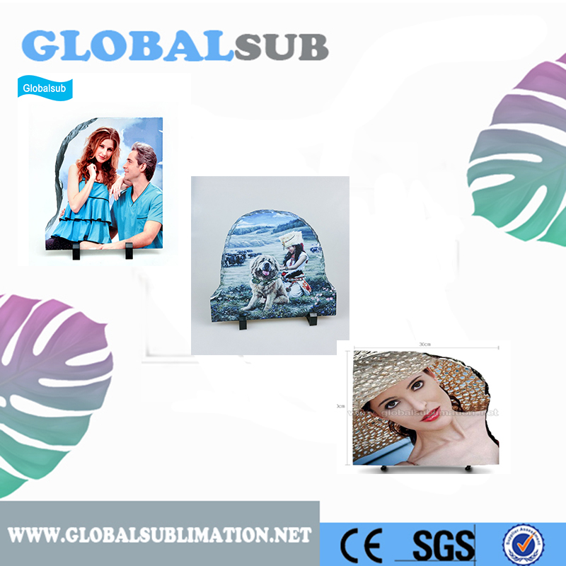 Special Shape Blank Sublimation Photo Slate Stone Photo Frame