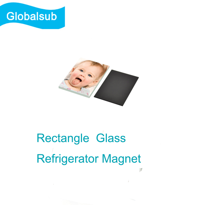 Sublimation Magnetic Glasses Rectangle ?Glass Refrigerator Magnet