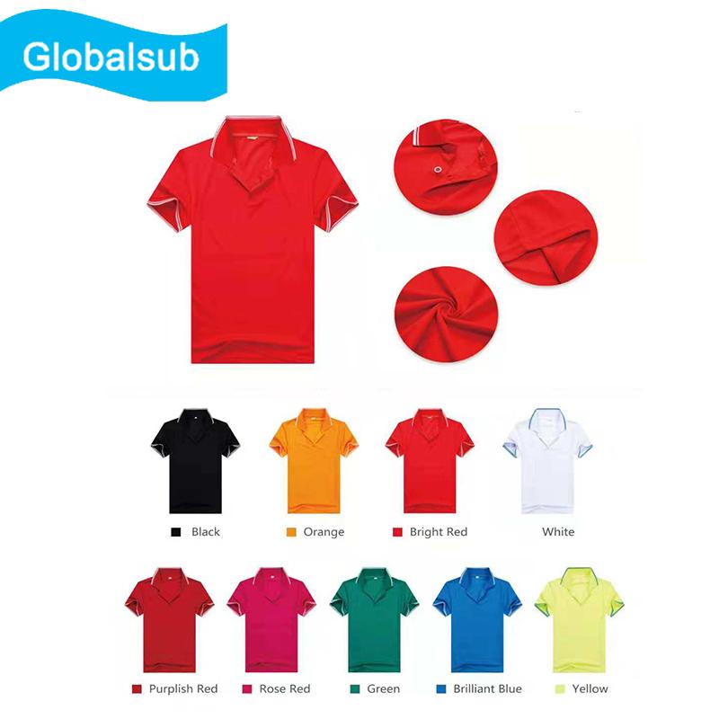 Short Sleeve Polo Shirt For Heat Transfer Printing