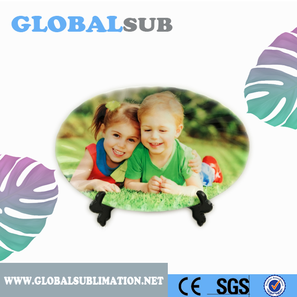 Amazing Gift Sublimation Oval Shape Wavy Photo Plate