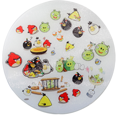 Sublimation Round Glass cutting board(20cm)