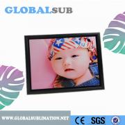 Black color rectangle blank plastic photo frame