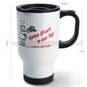 14oz Custom printed Stainless Steel Mug (White)