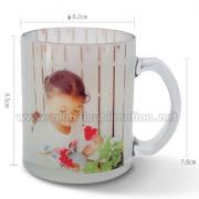 11oz Custom printed Glass Mug (Frosted)