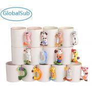 11oz Sublimation Printing Ceramic Animal Handle Mugs