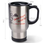 14oz Custom printed Stainless Steel Mug (Silver)