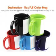 11oz Sublimation Ceramic custom printed handle Full Color Mug