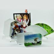 Elegant Design Blank Coated Crystal Photo Frame For Sublimation