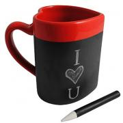 Custom printed Chalkboard Love Heart Message Chalk Writing Mug