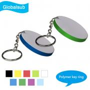 Round/Oval/Rectangle/Heart Polymer Key Ring Key Chain For Sublimation