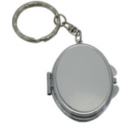 Compact Double Side Metal Make Up Mirror & Key Chain