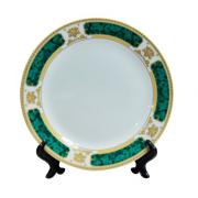 8&quot; Gold&amp;Green rim plate <img src=templates/utf-8/no1/images/new.gif border=0>