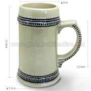 22oz custom printed Blue Rim Beer Mug  <img src=templates/utf-8/no1/images/new.gif border=0>