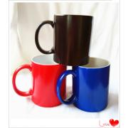 Matte ceramic magic mug hot water Finished color changing mug