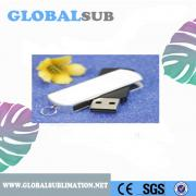 Sublimation Blank Metal USB Keychain 8G