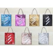 Sequin Double Layer Linen Tote Bag <img src=templates/utf-8/no1/images/new.gif border=0>