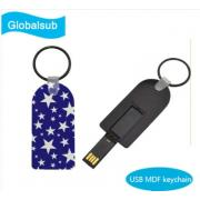 Three Shapes Sublimation Blank MDF USB Drive Keychain 8G 16G 32G <img src=templates/utf-8/no1/images/new.gif border=0>