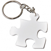 Sublimation Polymer Puzzle Keychain  For Photo Printing