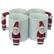 11oz Ceramic Decorative Sublimation Mug with Christmas Santa Claus Handle <img src=templates/utf-8/no1/images/new.gif border=0>