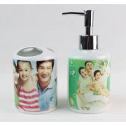 Bath Set (Toothbrush Holders & Bath bottle)