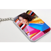 Sublimation polymer keychain(48*68mm square)