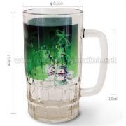 22oz custom printed Glass Beer Mug